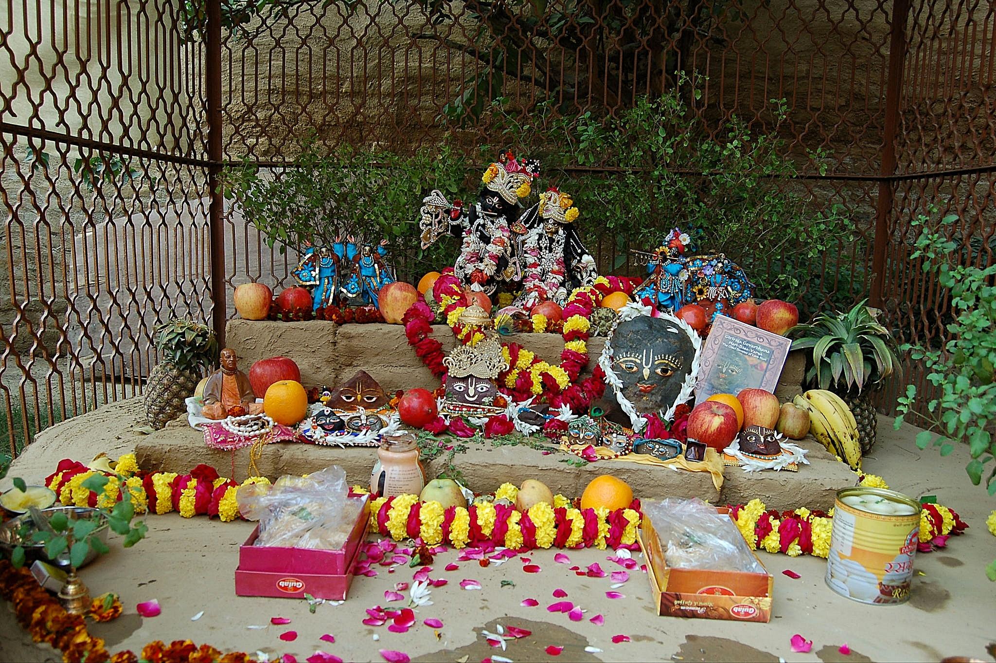 Radha Madhava at a courtyard festival