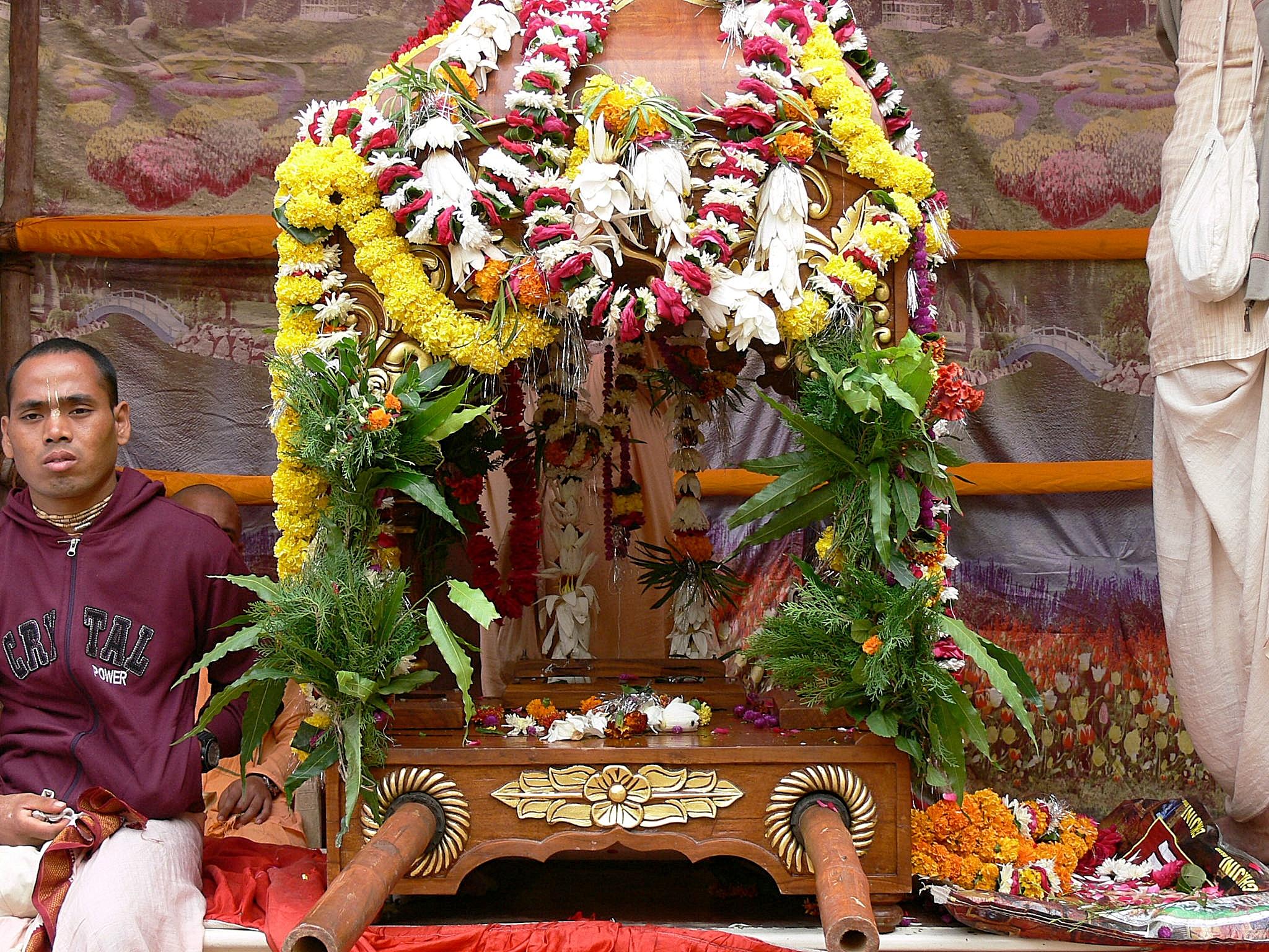 Palanquin for Radha Madhava