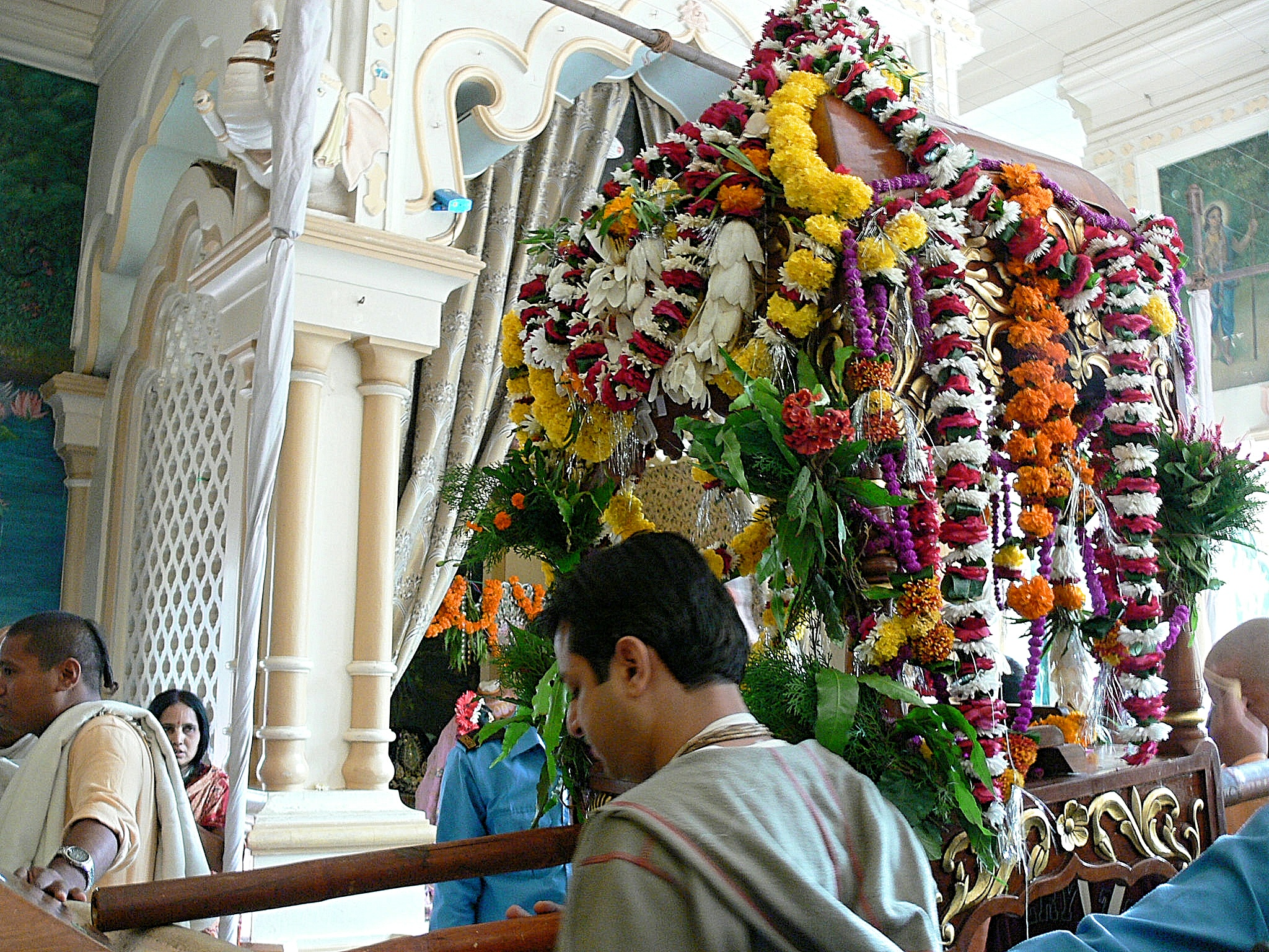 Radha Madhava placed on a palanquin